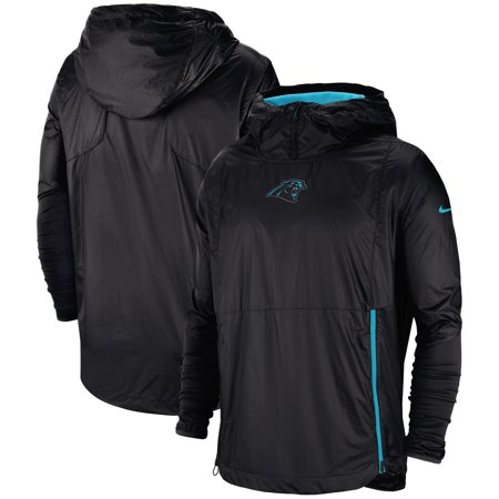 detailed look 31d90 f7b91 Carolina Panthers Nike Sideline Alpha Fly Rush Pullover Jacket - Black