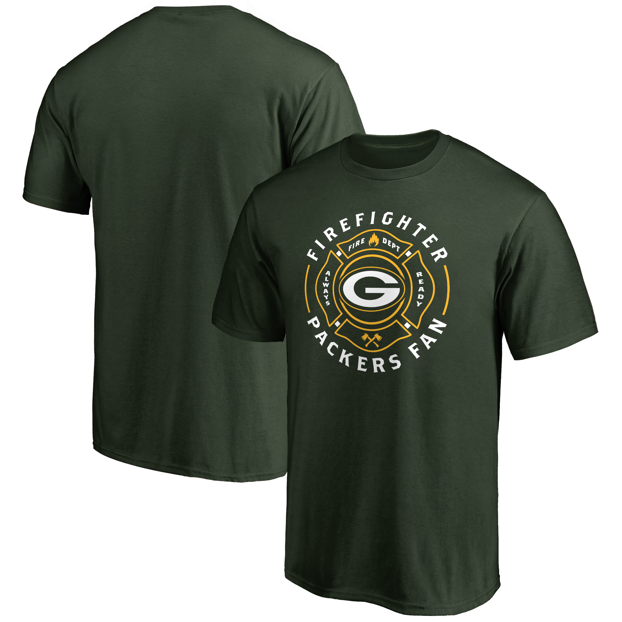 Green Bay Packers NFL Pro Line Firefighter T-Shirt - Green