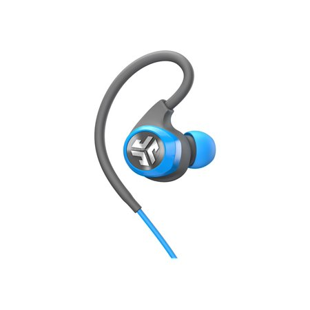 JLab Audio Epic2 Bluetooth 4.0 Wireless Sport Earbuds - Blue/Gray - GUARANTEED fitness, waterproof IPX5 rated, skip-free sound, high-performance 8mm sound drivers, 12 hr play time w/ microphone