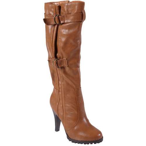 Brinley Co Women's Buckle Accent Mid-cal