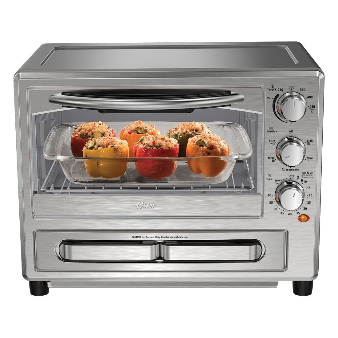 Oster Convection Oven with Pizza Drawer - Silver
