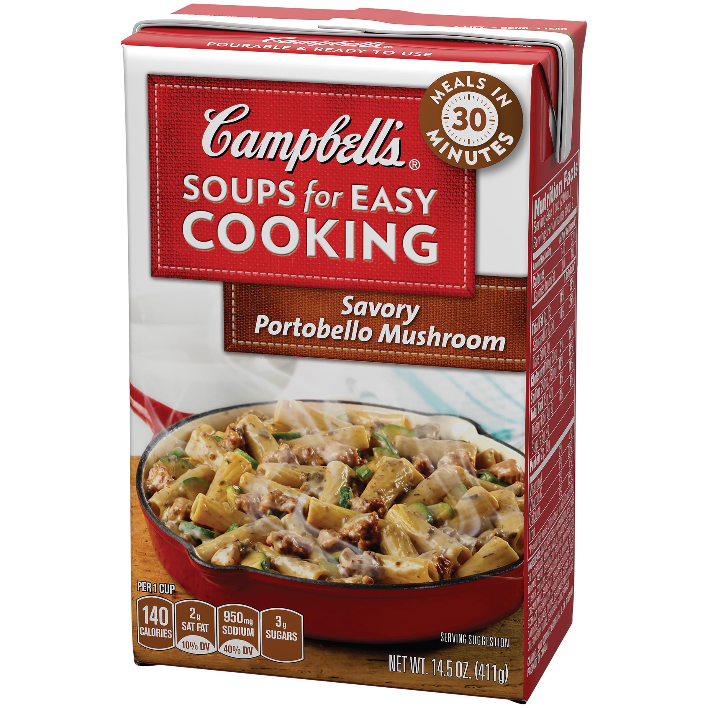 Campbell S Soups For Easy Cooking Savory Portobello Mushroom 14 5oz Com