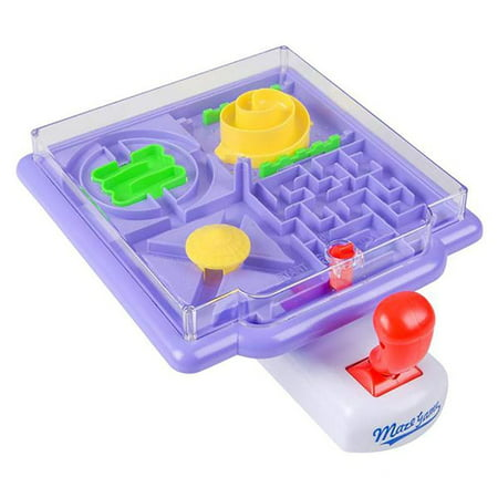 4 in 1 Tilt Maze Puzzle Ball Game –– 1 Piece Remote Control Brain Teaser Toy – Gift Ideas, Playtime Activity, Stimulator, Game Prizes, Indoor Activity, Enhance Motor Skills, Amusement Park - Halloween Maze Game
