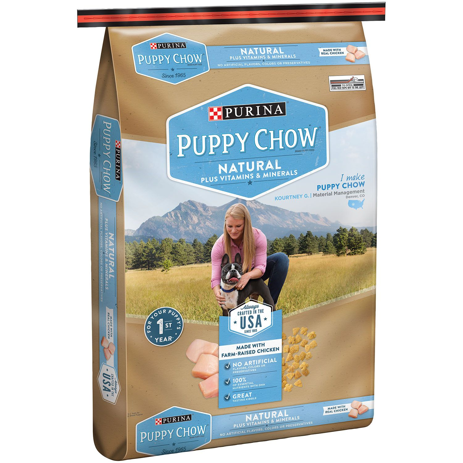 Pack of 2 Puppy Chow Natural with Farm-Raised Chicken Dry Puppy Food (15.5 lbs.) by Unbranded