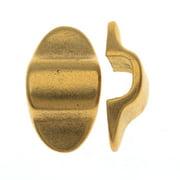 Nunn Design Antiqued Gold Plated Ponytail Holder Finding 10x19mm