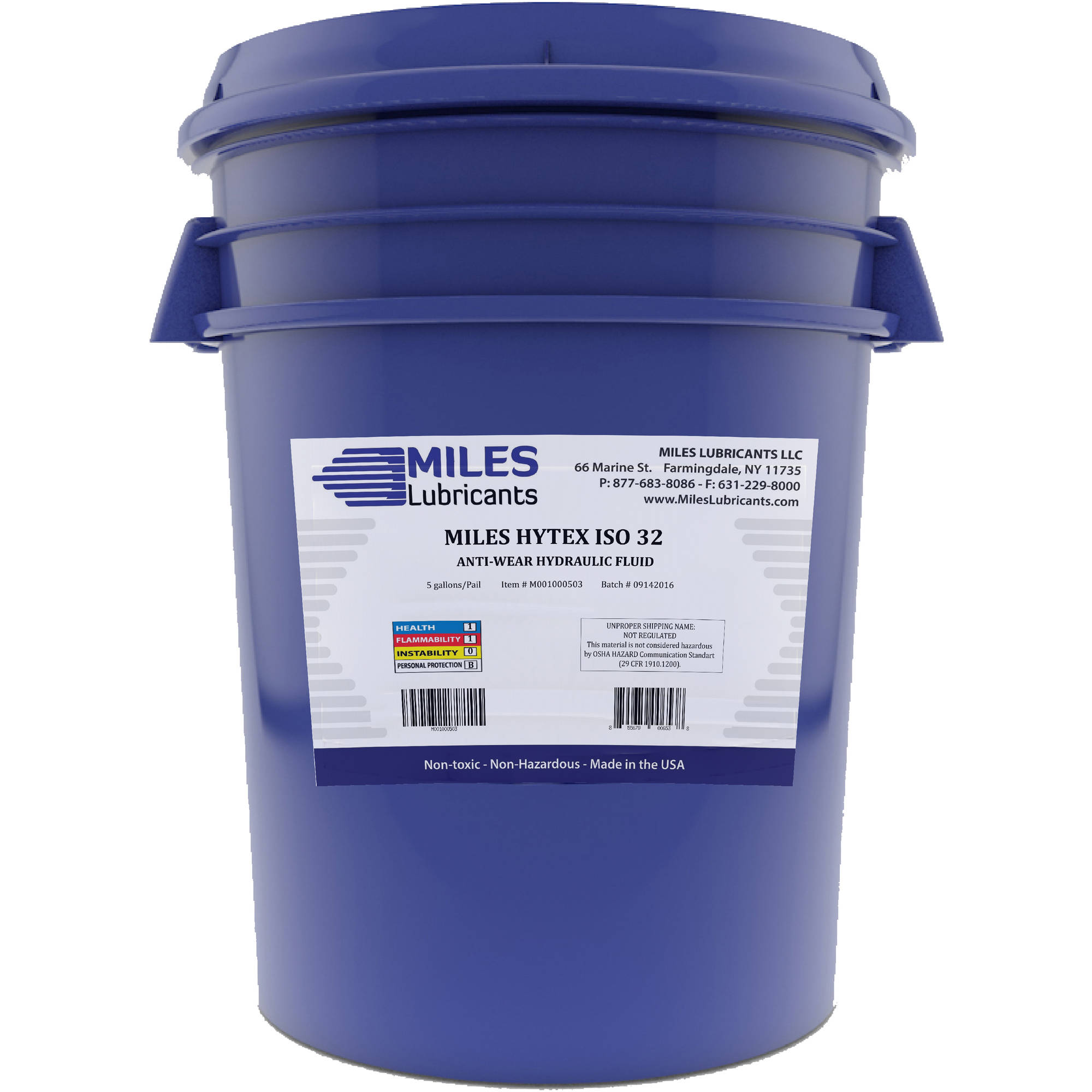 Miles Hytex, 32 Anti-Wear Hydraulic Fluid, 5-Gallon Pail