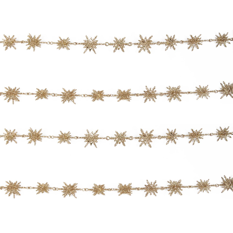 Holiday Time Gold Snowflake Mini Garland, 6'