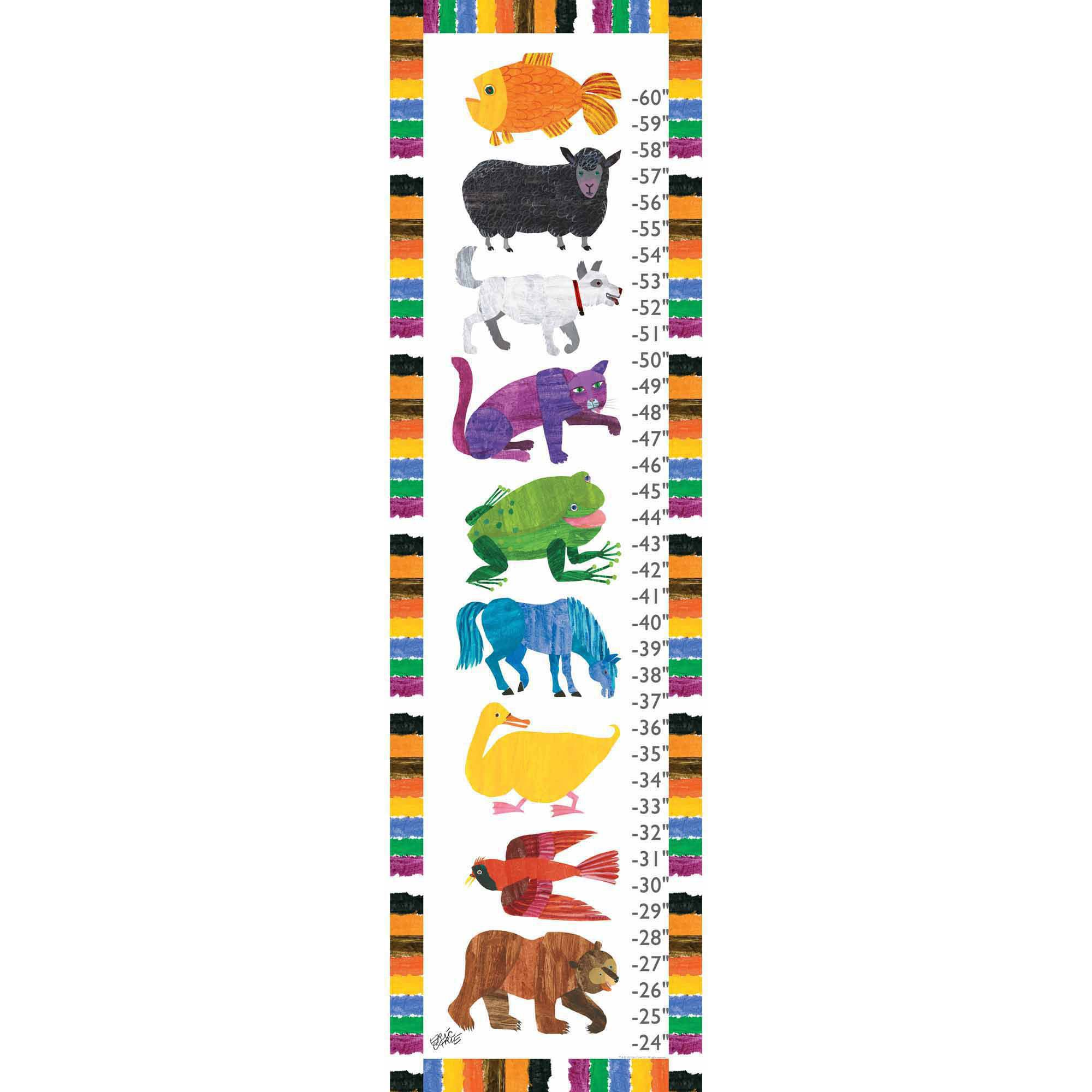 Eric Carle Animals Canvas Growth Chart