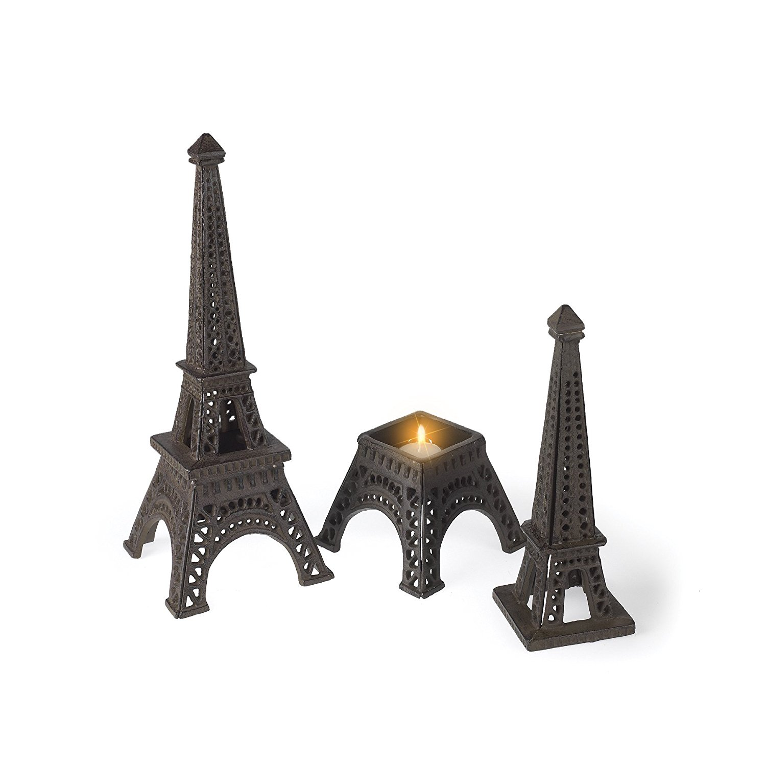 Cast Iron Antique Style EIFFEL TOWER Statue PARIS FRANCE Garden Home Decor