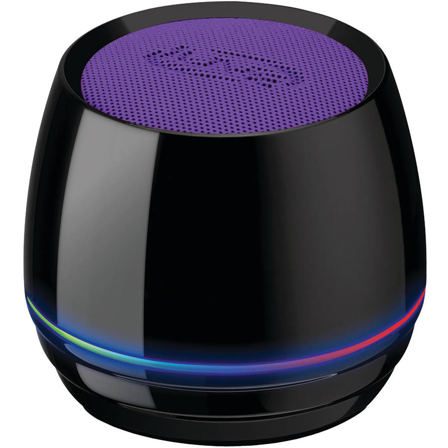 iLive ISB35PR Bluetooth Speaker with Glow Ring, Purple