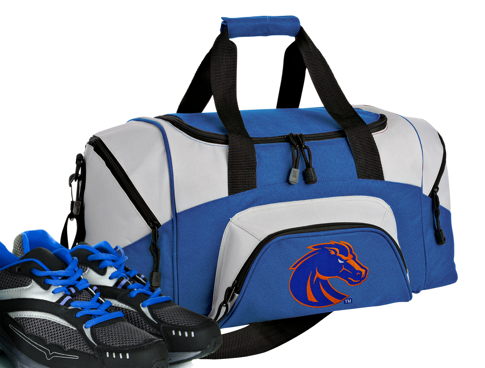 Small Boise State Gym Bag or Compact Boise State Duffel Bag by