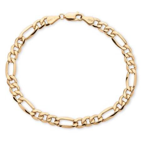Men's 6.5 mm Figaro-Link Bracelet in 10k Yellow Gold 8