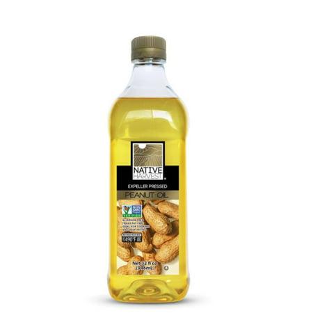 Native Harvest Non GMO Peanut Oil, 1 Litre (32FL
