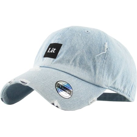 1f38ee17cea KBETHOS - Lit Patch Vintage Distressed Dad Hat Baseball Cap Polo Style  Adjustable - Walmart.com