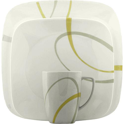 Corelle Squares Modern Lines 16-Piece Dinnerware Set