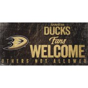 "Anaheim Ducks 6"" x 12"" Fans Welcome Sign"