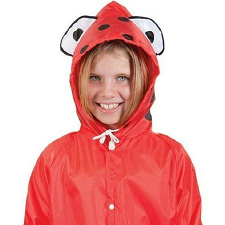 Cloudnine Children's Ladybug Raincoat, for ages 5-12 One size fits (Ladybug Red Raincoat)