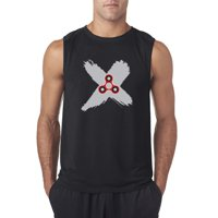Trendy USA 683 - Men's Sleeveless Fidget Spinner X Marks The Spot Medium Royal Blue