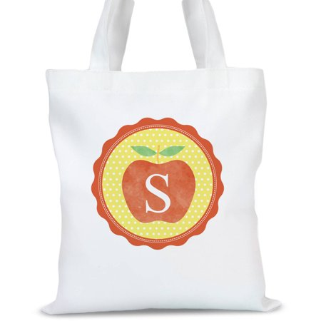 Initial Tote (Initial Apple Personalized Tote Bag, Sizes 11