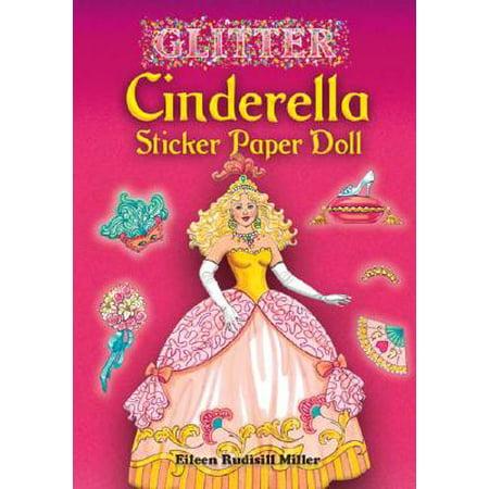 Glitter Cinderella Sticker Paper Doll (Eeboo Paper Dolls)