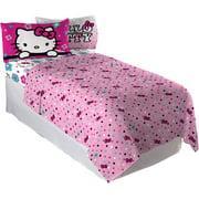 Sanrio Hello Kitty Floral Ombre Bedding Sheet Set