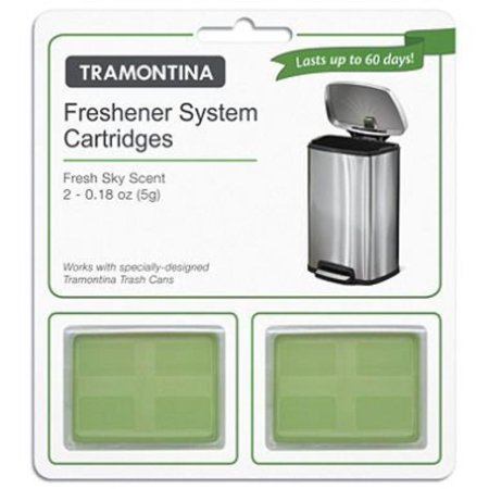 Freshener System - 2 pk Freshener System Cartidges Fresh Sky Scent - Last up to 60 Days, Minimizes strong odors while emitting a pleasant scent. By Tramontina