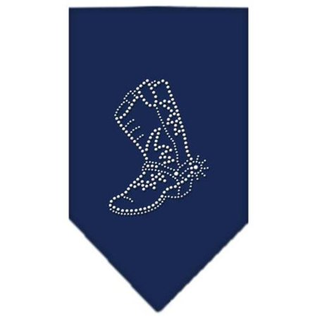 Boot Rhinestone Bandana Navy Blue large (Large Blue Rhinestone)
