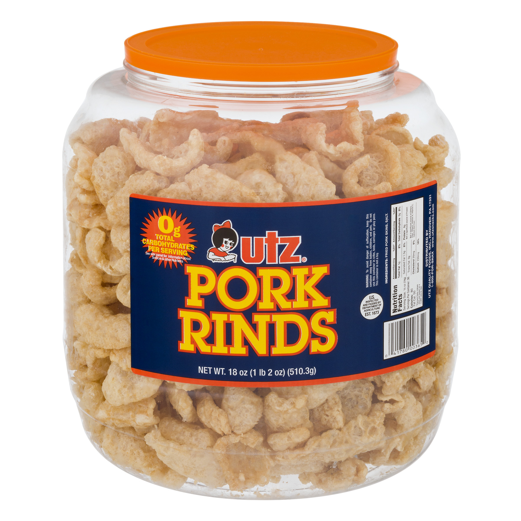 Utz Pork Rinds, 18.0 OZ
