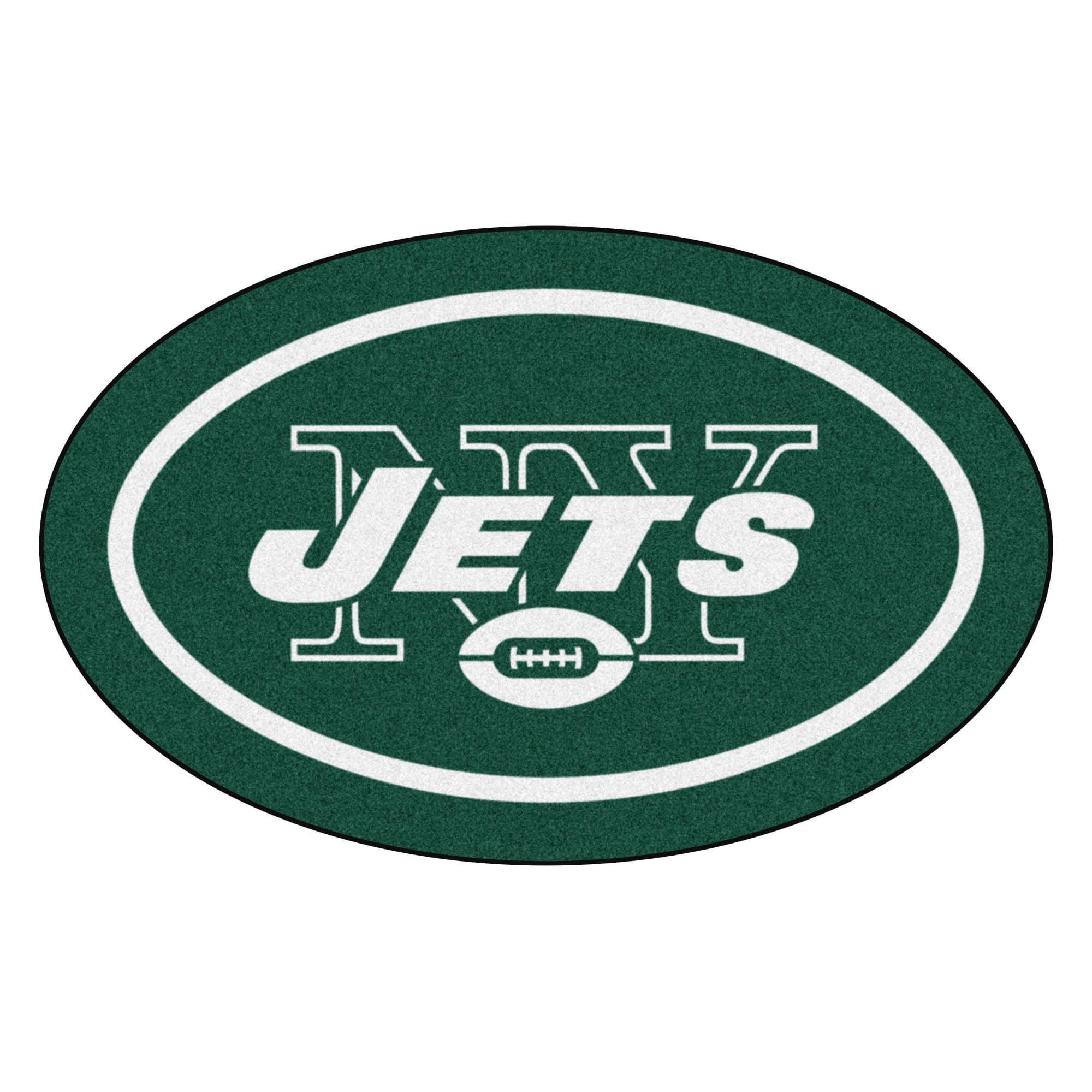 NFL New York Jets Mascot Novelty Logo Shaped Area Rug