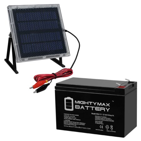 12V 8AH Battery for Big Game 12V Game Feeder + 12V Solar Panel thumbnail