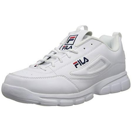 Fila 1SX60022 166 : Men's Disruptor SE Training Shoe, WhiteNavyRed (11 D(M) US)