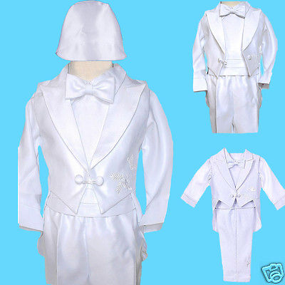 Baby Boy Communion Christening Baptism Outfit Suit size XSSMLXL(0M-24M) (First Communion Boy Clothes)