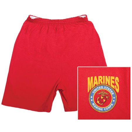 Fox Outdoor 64-794 S Mens United State Marines Corps With Logo Running Shorts, Red - Small - image 1 de 1