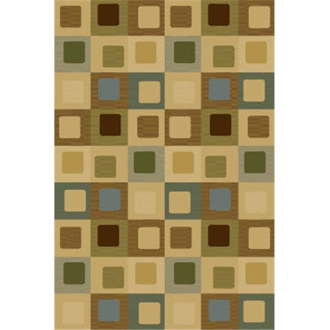 Central Oriental 8814BL46 3. 25 ft.  x 5. 25 ft.  Interlude Sloane Contemporary Rectangular Rug - Blue