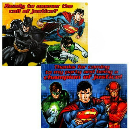 Justice League Rescue Invitations and Thank You Notes w/ Envelopes (8ct ea.)](Justice League Invitations)