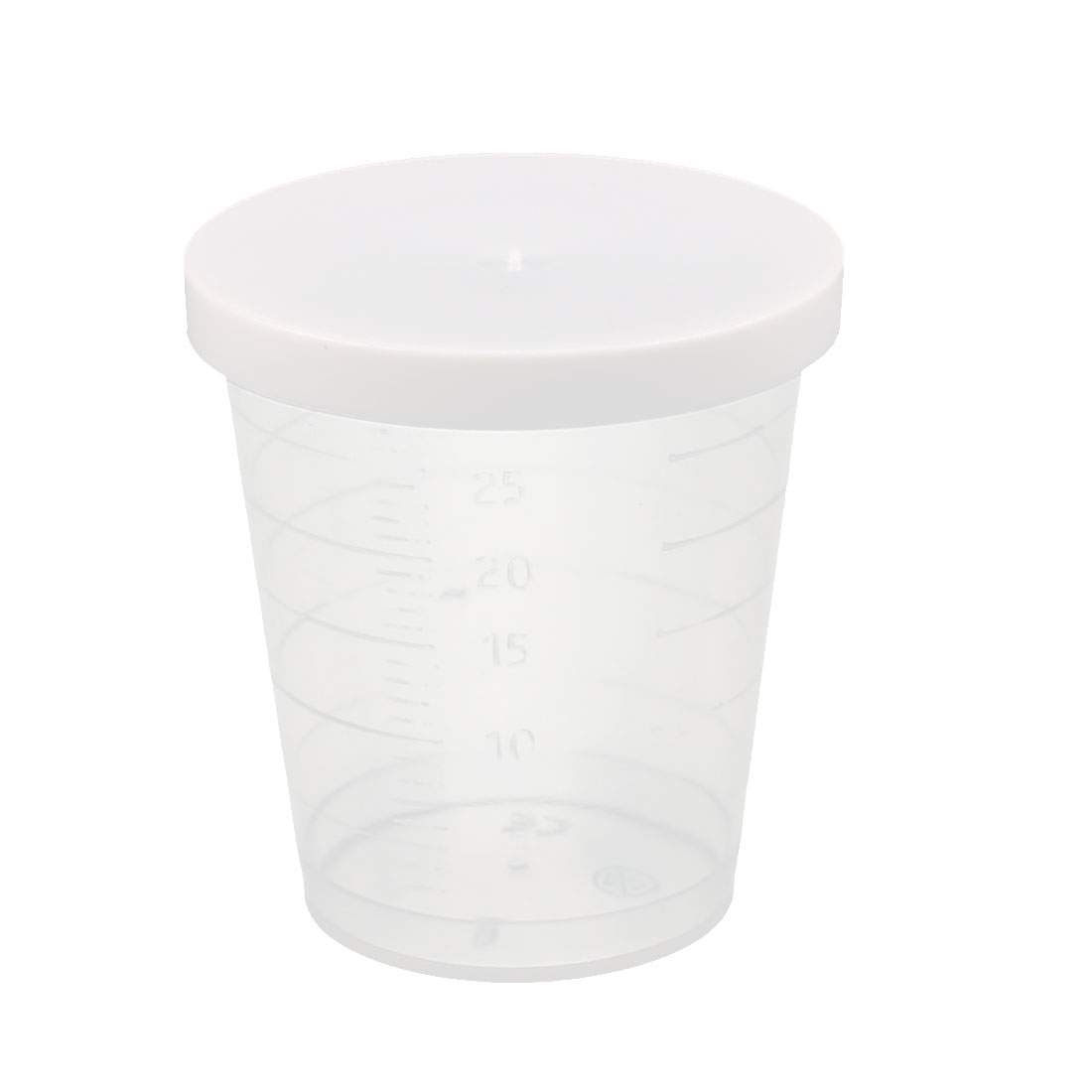 2 Pcs 30mL Laboratory Transparent Plastic Liquid Container Measuring Cup Beaker by Unique-Bargains