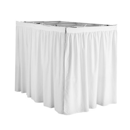 Extended Bed Skirt Twin Xl 3 Panel Set White Walmart Com