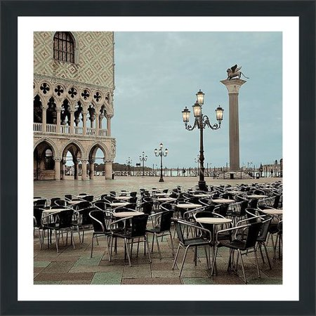 Picture Perfect International 'Piazza San Marco IV' by Alan Blaustein Framed Photographic Print - City Of San Marcos Ca