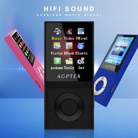 AGPtek Bluetooth 4.0 Lossless MP3 Music Player Metal Body Loud Speaker MP3 FM Player for Kids&Adult