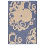 Liora Manne Terrace 1784/33 Octopus Marine Area Rug 23 Inches X 35 Inches