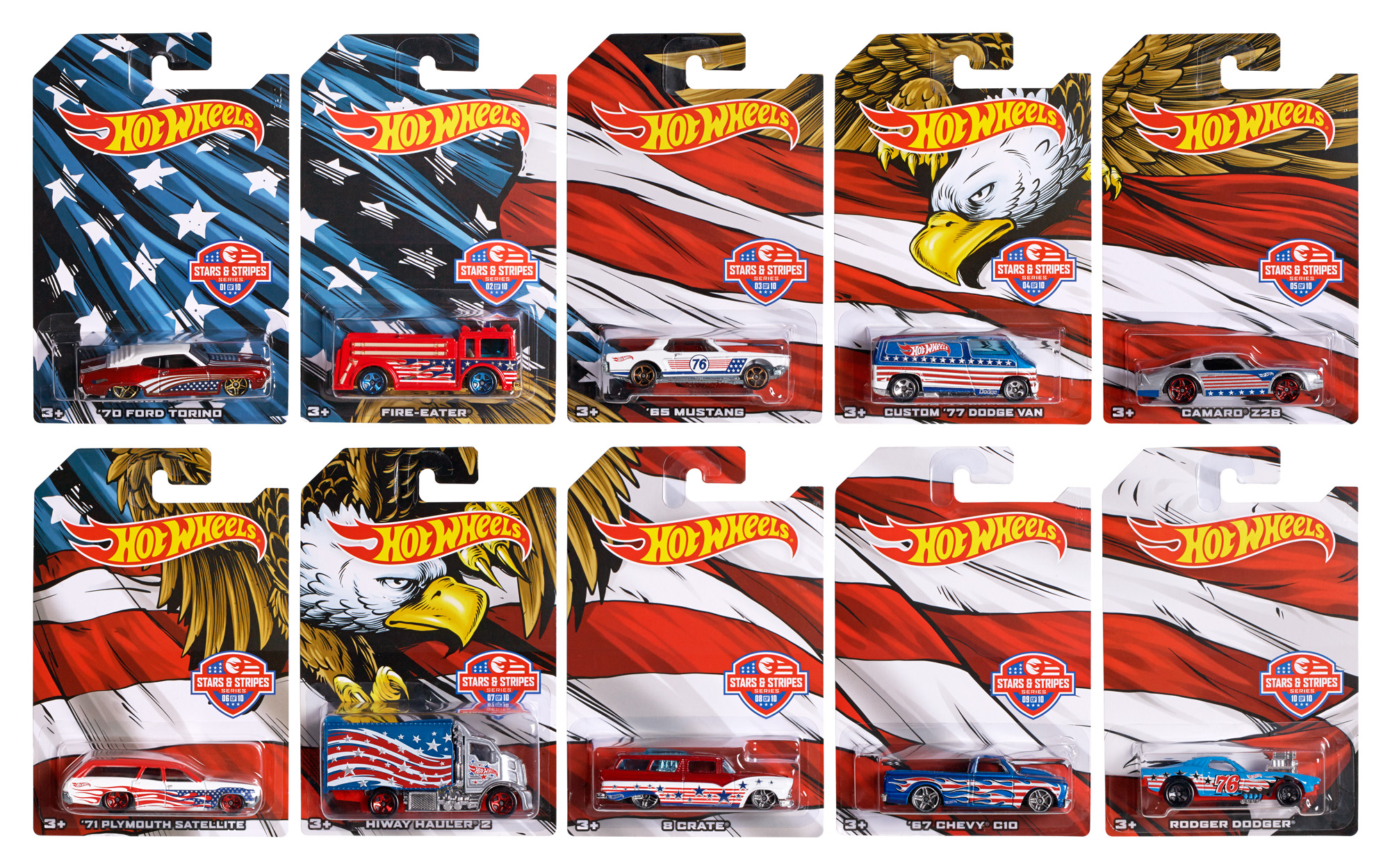 Hot Wheels Stars and Stripes (Item May Vary) by Mattel