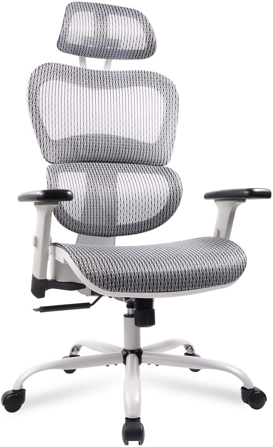 Mesh Office Chair Ergonomic Desk Chair Technical Task Swivel Chair Executive High Back Chair Adjustable Home Chair Gray Walmart Com Walmart Com