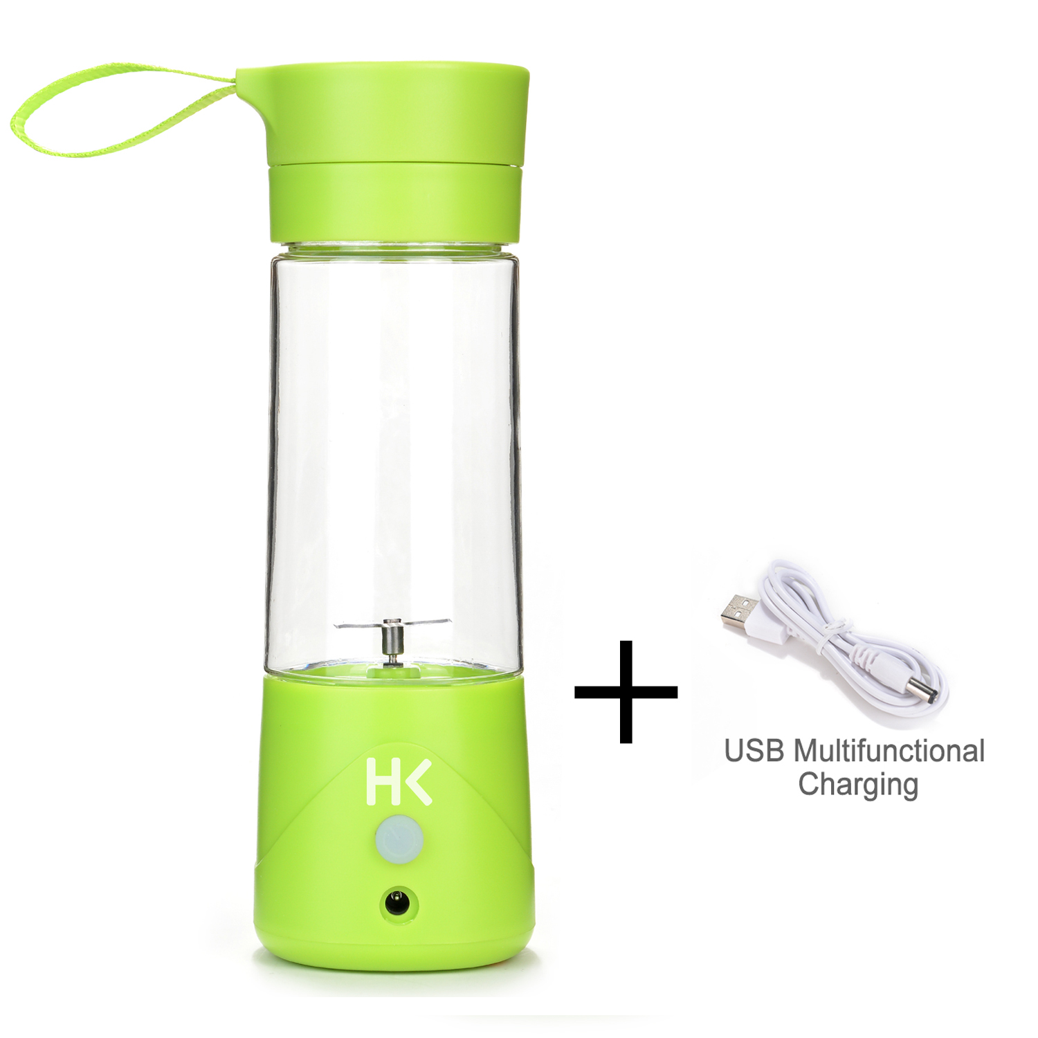380ml Mini USB Juicer Cup Portable Rechargeable Fruit Blender Crusher w  USB Charge Cable Multifunctional by