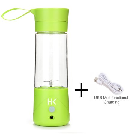 380ml Mini USB Juicer Cup Portable Rechargeable Fruit Blender Crusher w/ USB Charge Cable (Best Juicer For Greens And Fruit)