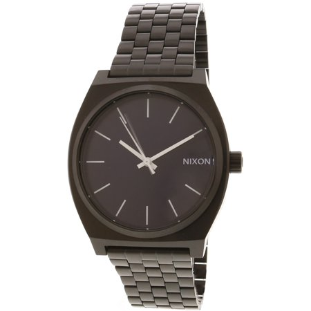 Nixon Men's Time Teller A0452668 Black Stainless-Steel Japanese Quartz Dress (Nixon 51 30 Tide Watch)