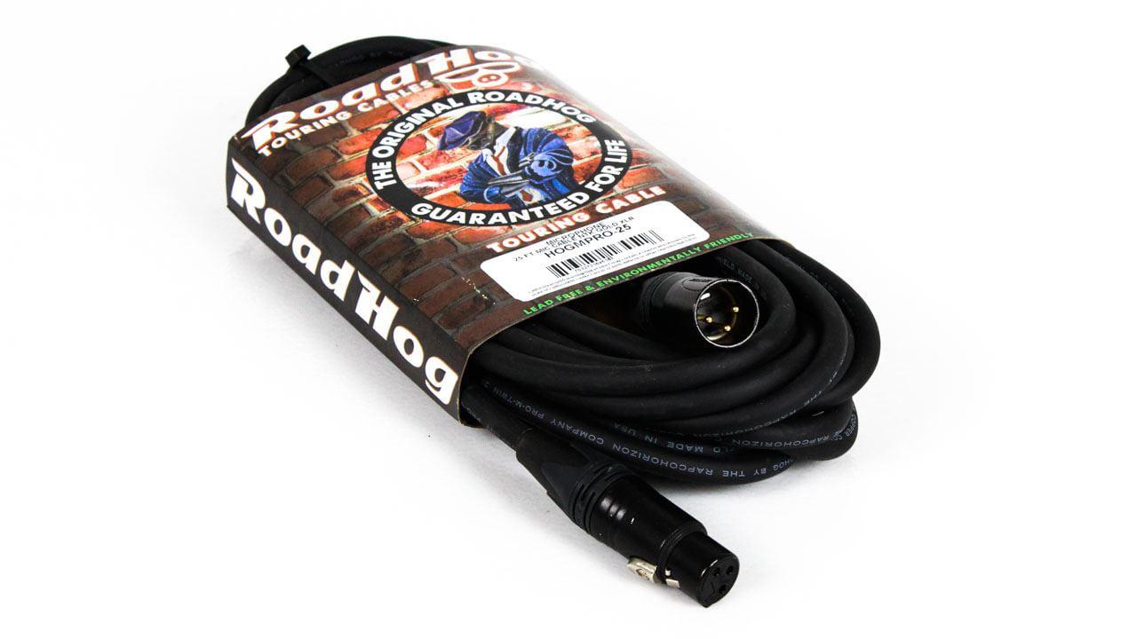 25-foot Rapco Roadhog Gold Pro XLR Mic Cable HOGMPRO-25 XLRM XLRF 25-feet by