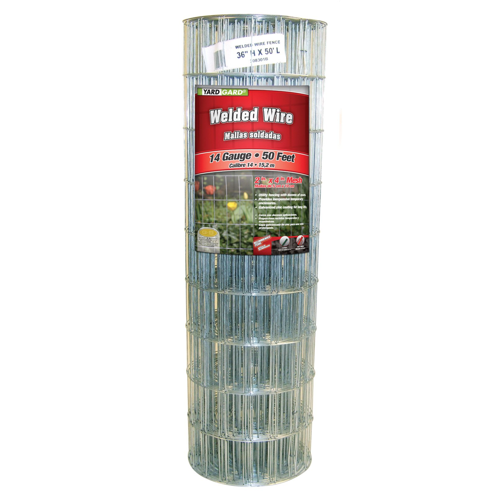 YARDGARD 36 Inch by 50 Foot Galvanized Welded Wire Fence by Midwest Air Technologies