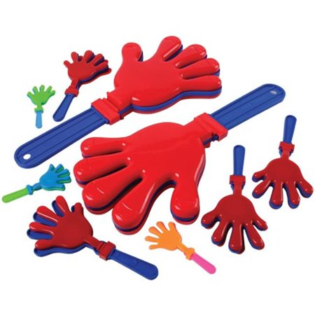 Hand Toy Clapper Assortment, 38 Piece , 3 - Clapper Toy