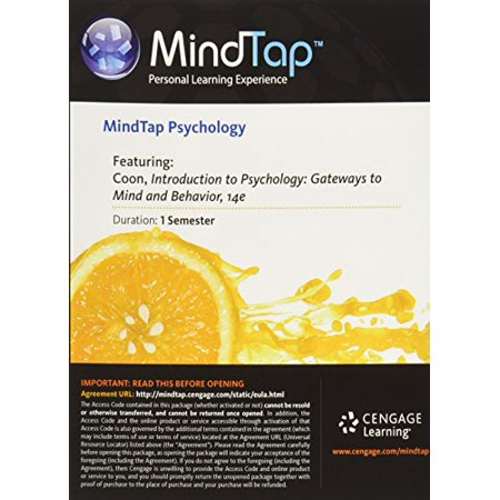 MindTap Psychology, 1 term (6 months) Printed Access Card for Coon/Mitterer