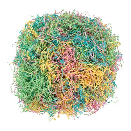 Fun Express - Easter Multicolor Paper Grass for Easter - Party Supplies - Wrappings - Wrapping & Tissue - Easter - 12 Pieces - Paper Easter Grass